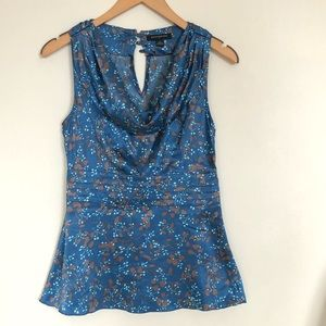 Banana Republic Cowl Neck Floral Top